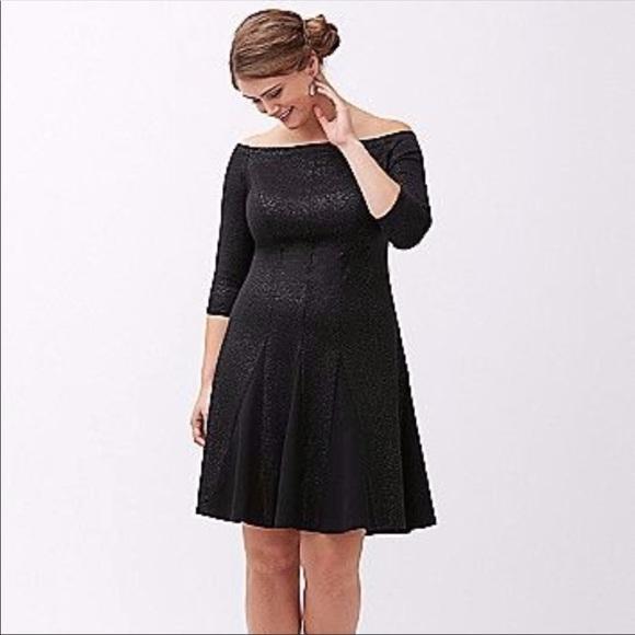Plus Size Black Sparkle Dress